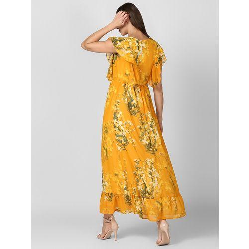 StyleStone ruffle detail floral maxi dress