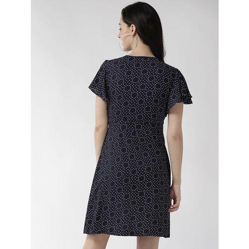 TAURUS v-neck a-line dress