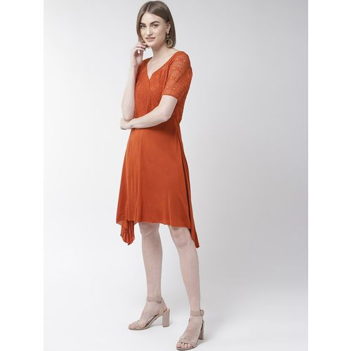 TAURUS v-neck laced asymmetric dress