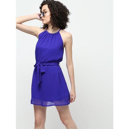 ORVU FASHION tie knot a-line dress