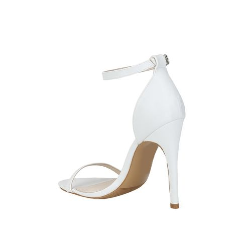 Truffle Collection white ankle strap sandals