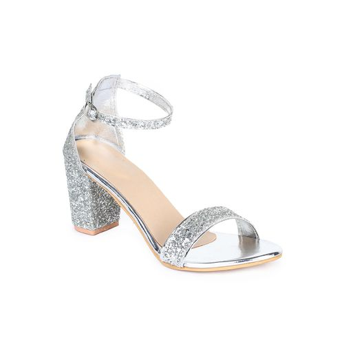 AASHEEZ silver ankle strap sandals