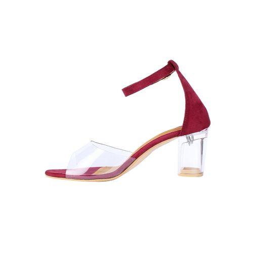 Picktoes maroon ankle strap sandals