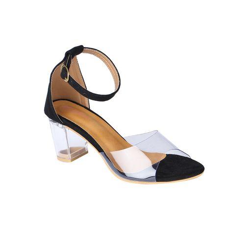 Picktoes black ankle strap sandals