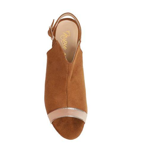 Nupie tan back strap sandals