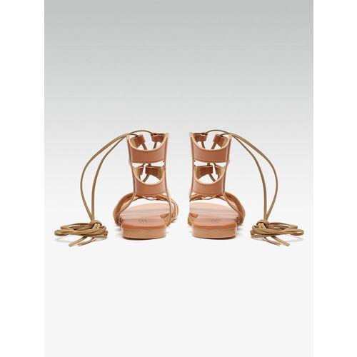 SSS (Street Style Store) tan gladiators sandals
