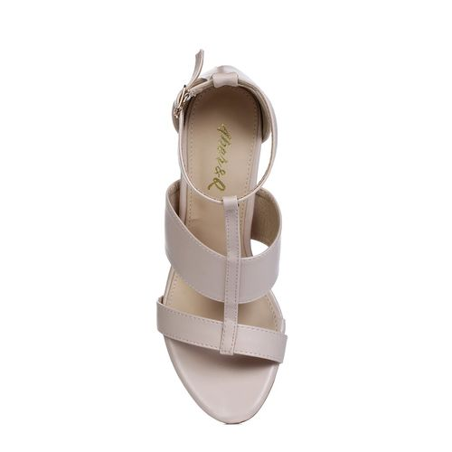 Aber & Q beige ankle strap sandals