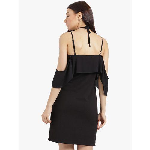 Leo Sansini halter neck cold shoulder dress