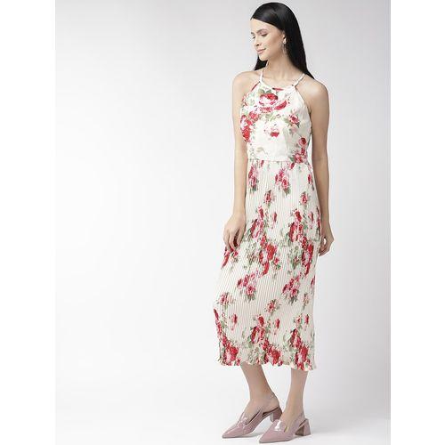 PLUSS halter neck floral a-line dress