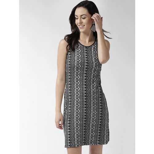 TAURUS cut out back printed bodycon dress