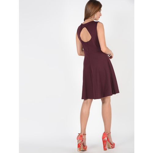 SOHO cot out back solid skater dress