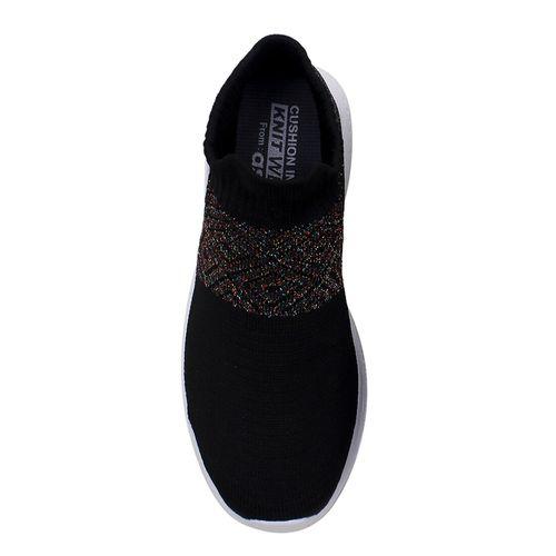 asian black slip on sports shoes