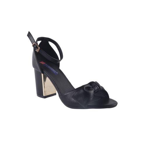 MSC black ankle strap sandals