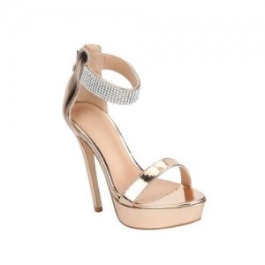 Truffle Collection gold platforms sandals