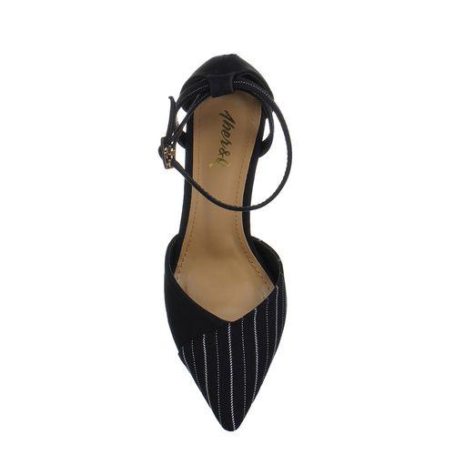 Aber & Q black synthetic sandals