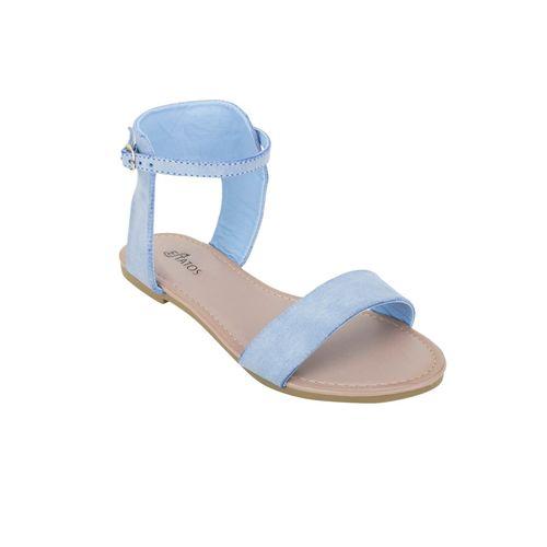 Estatos purple ankle strap sandal