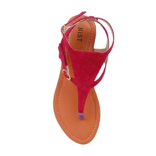Gnist red closed back sandals