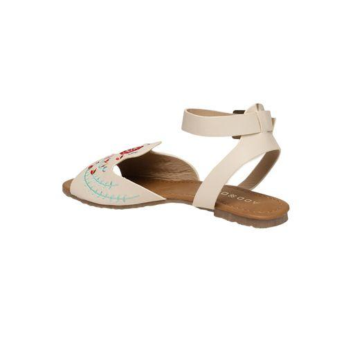Addons beige ankle strap sandal