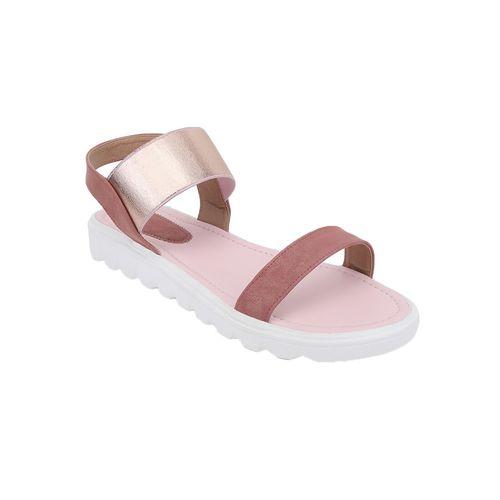 Shoe Cloud pink flat forms sandals