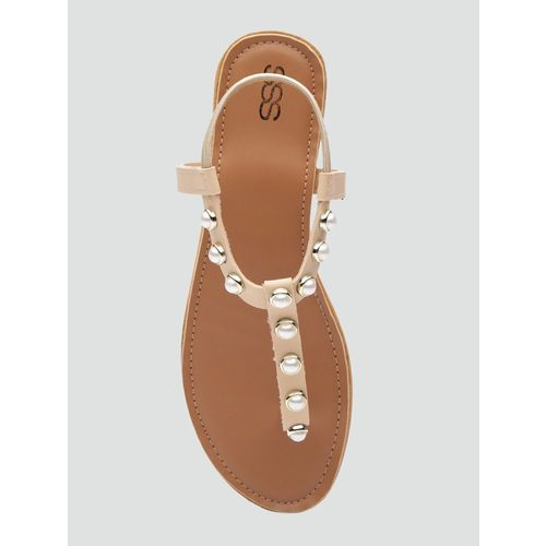 SSS (Street Style Store) tan back strap sandals
