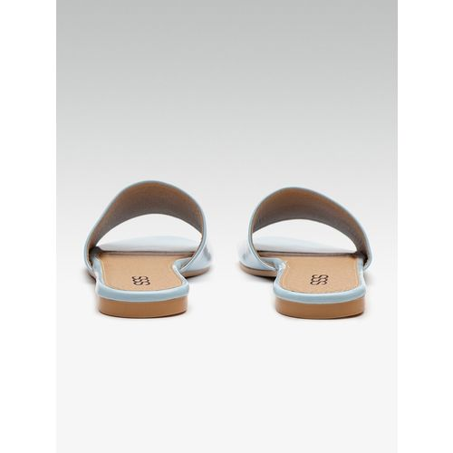 SSS (Street Style Store) blue slip on sandals