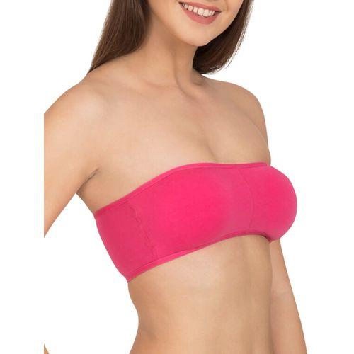 Tweens solid pink cotton tube bra