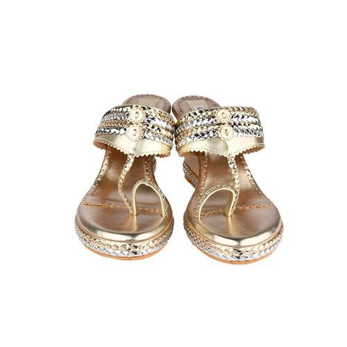 Cinderella Shoes metallic one toe wedges