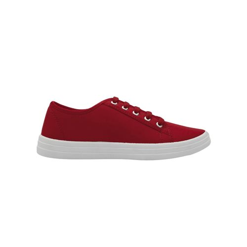 asian red lace-up casual shoes