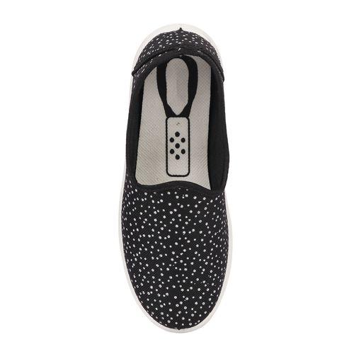 Longwalk black slip on casual shoes