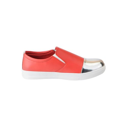 FAUSTO red synthetic slip on casual shoes