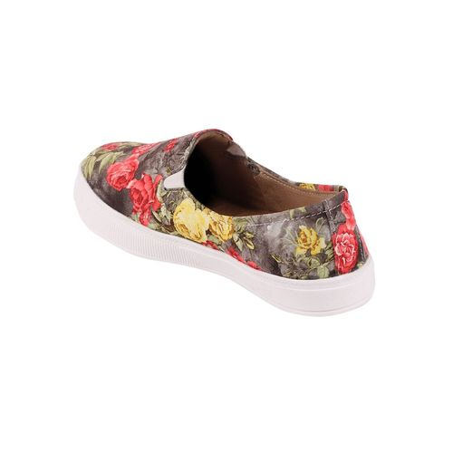 FAUSTO grey slip on casual shoes