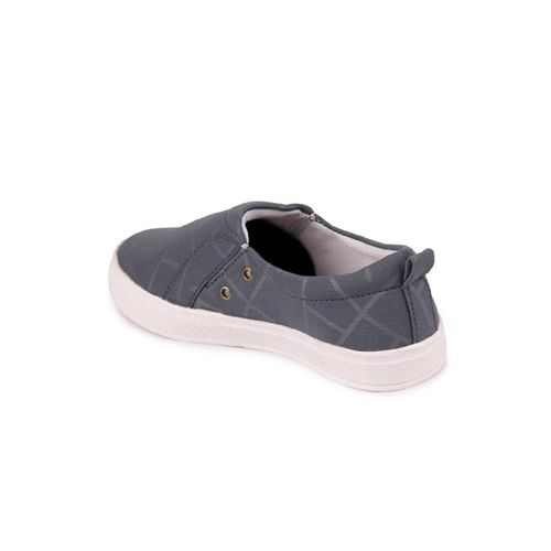 FAUSTO grey canvas slip on casual shoes