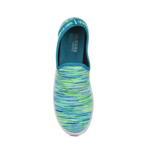 Gliders By Liberty sea green slip on casual shoes