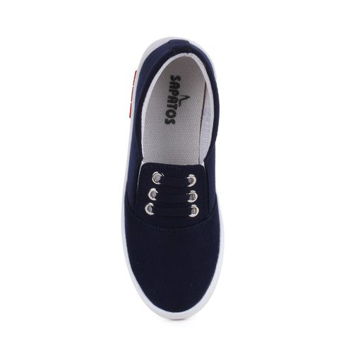 Sapatos blue slip on casual shoes