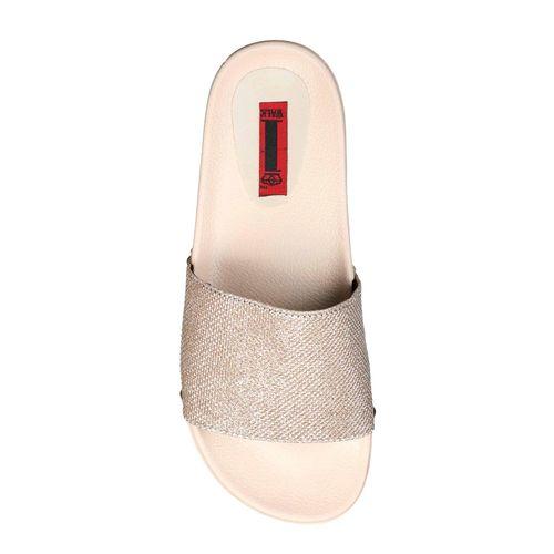 1 WALK beige slip on slides