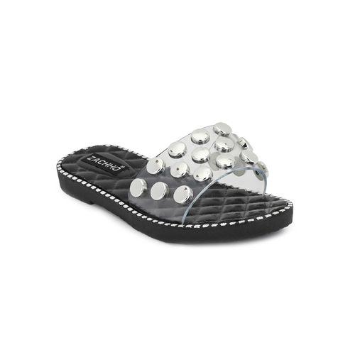 ZACHHO black slides flip flops