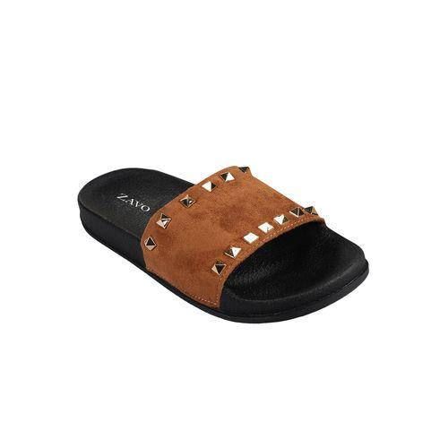 ZAVO brown slip on slides