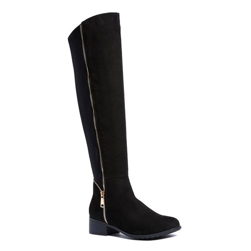 Truffle Collection black knee length boot