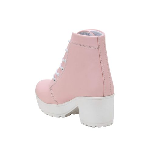 Longwalk pink ankle boots