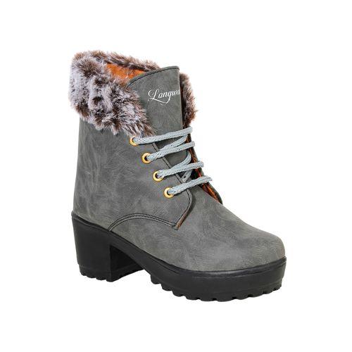 Longwalk grey ankle boots