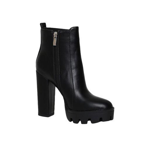 Estatos black ankle boots
