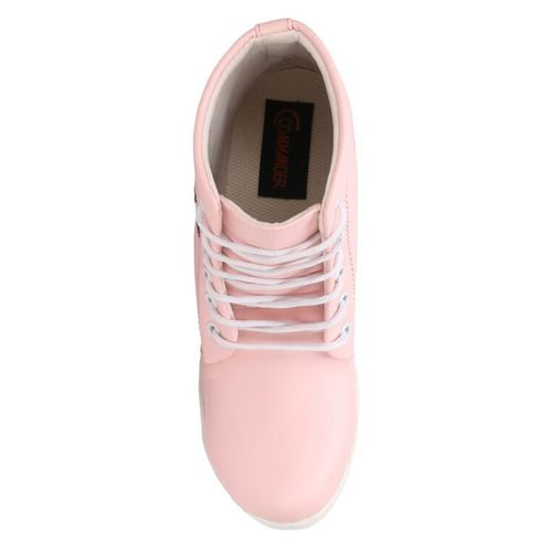 COMMANDER SHOES pink synthetic ankle boots