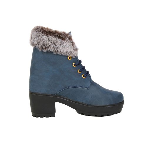 Longwalk blue lace-up boots