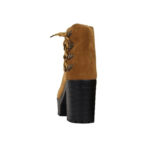 AASHEEZ brown ankle lace up boots
