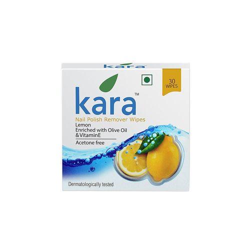 kara wipes nail polish remover, lemon (30 pulls) (pack of 2)