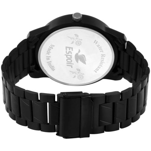 Espoir Analogue Stainless Steel Black Dial Day and Date Men's Boy's Watch - StromHammer by Guruji