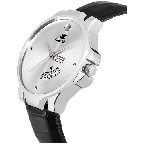 Espoir Analog Silver Dial Day and Date Boy's and Men's Watch - SilverInfiMovado02 by Guruji