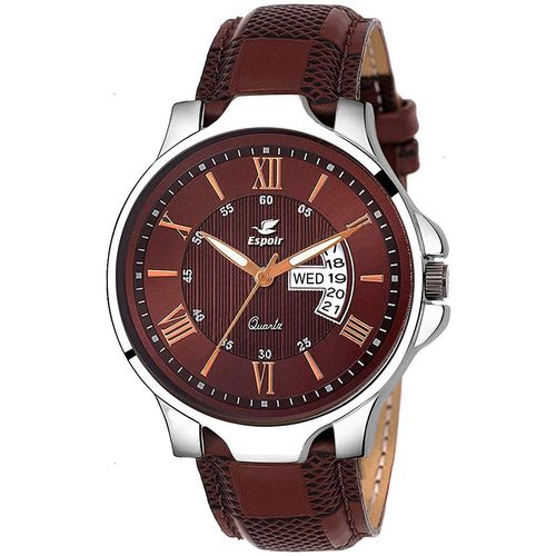 Espoir Analogue Brown Dial Day and Date Boy's and Men's Watch - InfiAnthony by Guruji