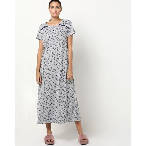 HUSHH Ditsy Print Nightgown with Short Sleeves