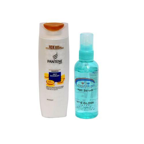pantene pro-v anti dandruff shampoo with pink root hair serum pack of 2